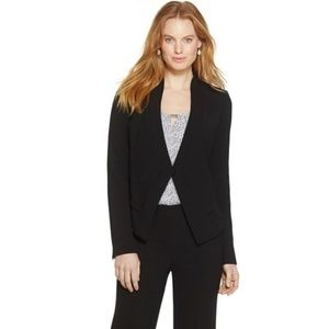 White House Black Market Soft Drape Black Blazer 6
